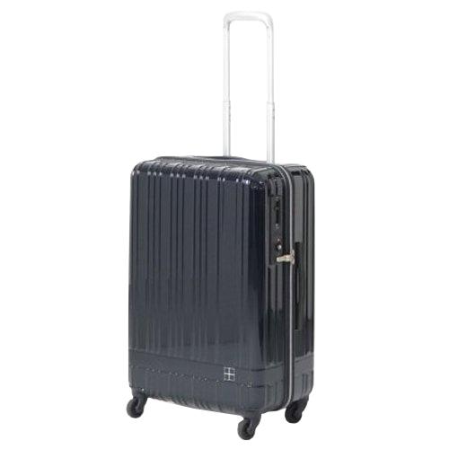 hands+ ライトスーツケース ジップタイプ 60L  ミッドナイトブルー【メーカー直送品】お届け期間:約1週間~10日間