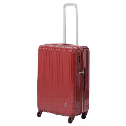 hands+ ライトスーツケース ジップタイプ 60L  レッド【メーカー直送品】お届け期間:約1週間~10日間