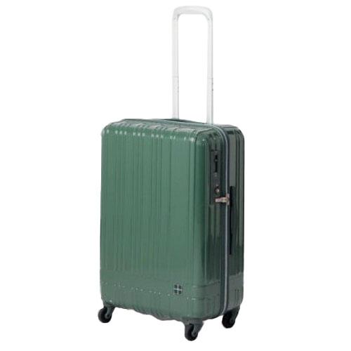hands+ ライトスーツケース ジップタイプ 60L  グリーン【メーカー直送品】お届け期間:約1週間~10日間