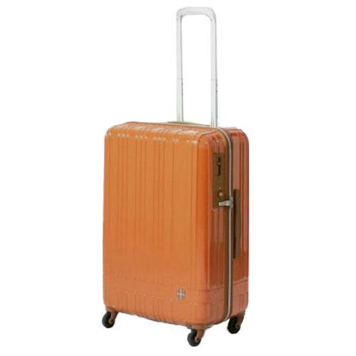 hands+ ライトスーツケース ジップタイプ 60L  オレンジ【メーカー直送品】お届けまで約1週間~10日間
