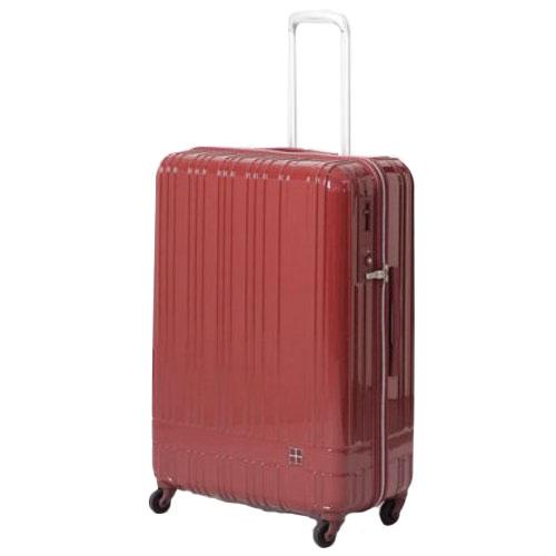hands+ ライトスーツケース ジップタイプ 90L  レッド【メーカー直送品】お届け期間:約1週間~10日間