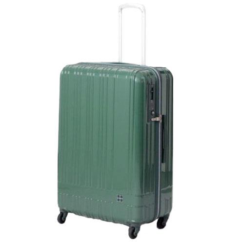 hands+ ライトスーツケース ジップタイプ 90L  グリーン【メーカー直送品】お届け期間:約1週間~10日間
