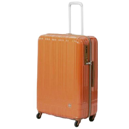 hands+ ライトスーツケース ジップタイプ 90L  オレンジ【メーカー直送品】お届け期間:約1週間~10日間
