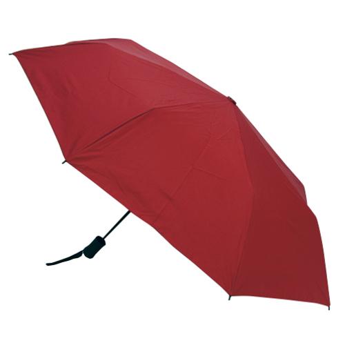 hands+ 耐風折りたたみ傘 55cm レッド