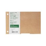 東急ハンズオリジナル リングアルバム ポケット台紙 S クラフト 5枚入