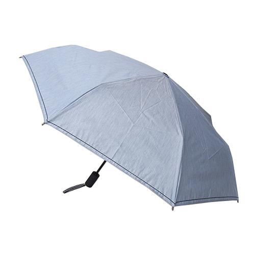 hands+ 1級遮光 自動開閉 折りたたみ傘 55cm ブルー