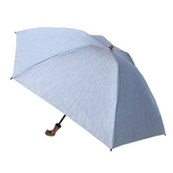 hands+ 1級遮光 新簡単開閉折りたたみ傘 縄紐 50cm ブルー