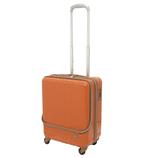 hands+ ライトスーツケース フロントオープンタイプ 38L オレンジ【メーカー直送品】お届けまで約1週間~10日間