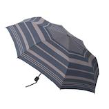 hands+ 風に強い簡単開閉 折りたたみ傘 60cm ボーダーネイビー│hands+ウェザー hands+ 折り畳み傘