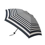 hands+ 新簡単開閉折りたたみ傘 55cm ラインボーダーネイビー│hands+ウェザー hands+ 折り畳み傘