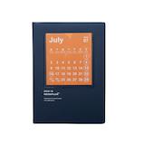 <東急ハンズ>【2018年7月始まり】 hands+ダイアリー B6 マンスリー カレンダー ネイビー 月曜始まり画像