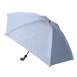 hands+ 1級遮光 新簡単開閉折りたたみ傘 縄紐 (母の日パッケージ) 50cm ブルー