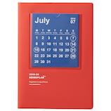 【2019年7月始まり】 hands+ダイアリー B6マンスリー カレンダー レッド 月曜始まり