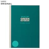 東急ハンズオリジナル グリーンノート B5 A罫ドット│ノート・メモ 大学ノート・綴じノート