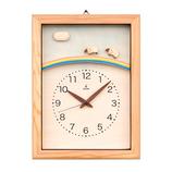 キコリ(KICORI) ひつじと虹の電波時計 K210
