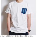 泥棒日記 三河木綿 ポケットTシャツ ホワイト M
