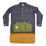 グローン(gron) ダンガリークラフトマンシャツ 130209 インディゴ サイズ4│アウトドアウェア