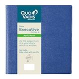 【2019年4月始まり】 Quo Vadis(クオバディス) エグゼクティブノート4 アンパラ A5変形 ウィークリー qv60201bl ブルー 月曜始まり