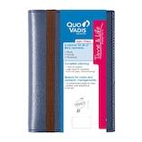 【2020年1月始まり】 クオバディス タイム&ライフ 10×15 A6 ウィークリー qv539mbl ブルーメタリック 月曜始まり