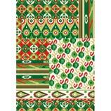デコパッチペーパー dp-fd518 織物/グリーン系