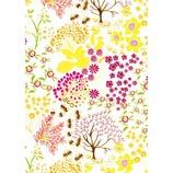 デコパッチペーパー  dp-fd523 草花柄 ホワイト×イエロー