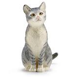 シュライヒ(Schleich) 13771 ネコ(座)│おもちゃ ミニチュアフィギュア