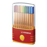 STABILO スタビロ ファイバーチップペン ポイント88 パレード 20色セット