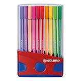 スタビロ(STABILO) ペン68 カラーパレード 6820−04 20色│マーカー・サインペン サインペン・水性マーカー