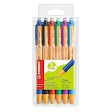 スタビロ ポイントボールセット 油性ボールペン 6030-6 GREEN 6色│ボールペン 油性ボールペン