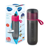 ブリタ(BRITA) ボトル型洗浄器 アクティブ カートリッジ2個付 ピンク│防災用品 簡易浄水器・ウォータータンク