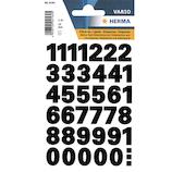 ヘルマ 数字ラベル0~9 4164 黒│インデックス・ラベル インデックスシール