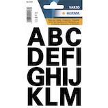 ヘルマ アルファベットラベル 4167 大 黒│インデックス・ラベル インデックスシール