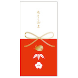 【年賀】リュリュ ロングぽち袋 LOPB2003 紅白