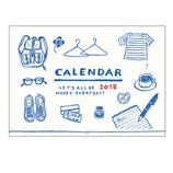 【2018年版・壁掛】 リュリュ イラストライフカレンダー C−1808