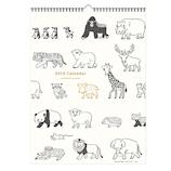 【2019年版・壁掛】 リュリュ アニマルパレードカレンダー C1906