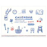 【2019年版・壁掛】 リュリュ イラストライフカレンダー C1909