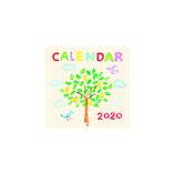 【2020年版・壁掛】リュリュ 水彩カレンダー CK2004