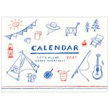 【2021年版・壁掛】 リュリュ イラストライフカレンダー CK-2105