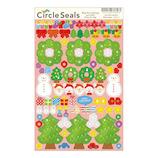 【クリスマス】 リュリュ サークルシール クリスマス 手づくりツリー XCS−17