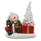 【クリスマス】 ジャパン・オール・クリエイティブ セラミックLEDツリー C-10839 スノーマン