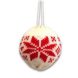 【クリスマス】 ジャパン・オール・クリエイティブ ニットボールオーナメント スノー C-14594 レッド