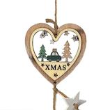 【クリスマス】 ジャパン・オール・クリエイティブ ハートハンギング レーザーカット C-15183 グリーン