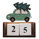 【クリスマス】 ジャパン・オール・クリエイティブ ウッドツリーカレンダー C-15191 グリーン