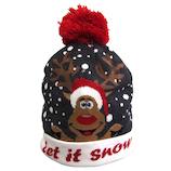 【クリスマス】 ジャパン・オール・クリエイティブ LEDニット帽 C-15321 ホワイト