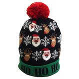 【クリスマス】 ジャパン・オール・クリエイティブ LEDニット帽 C-15323 グリーン