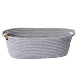 モック(moc) ロープバスケット M ライトグレー│収納・クローゼット用品