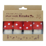 chair socks きのこのチェアソックス CSK-KNK-01 ベニイロタケ 4本入
