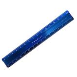 コンサイス アルミフラットスケール15cm ブルー│定規・コンパス 定規