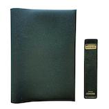 コンサイス 皮革調ブックカバーNo.3 新書版 緑│ブックカバー・製本用品 ブックカバー
