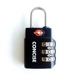 コンサイス 3桁ダイヤル TSAロック TL−06T ブラック│鍵・錠前 南京錠